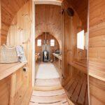 foto 5 4m bastutunna for 4 pers med omkladningsrum och sittplatser pa utsidan